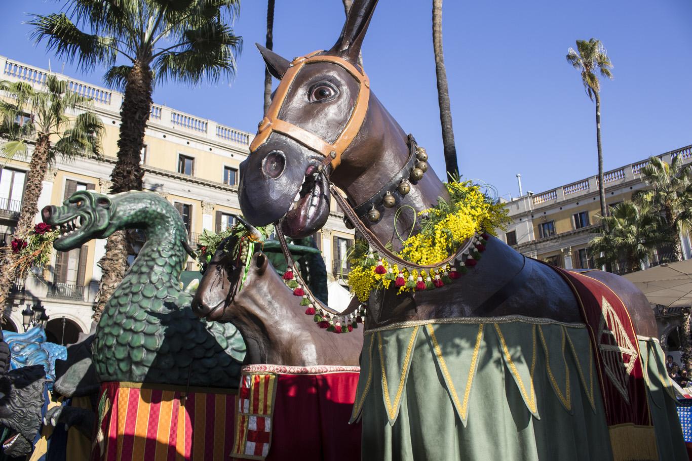 La Mulassa, el Bou i el Drac de Barcelona - Festes de Santa Eulàlia 2015