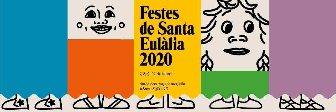 Cartell de les Festes de Santa Eulàlia de Barcelona 2020