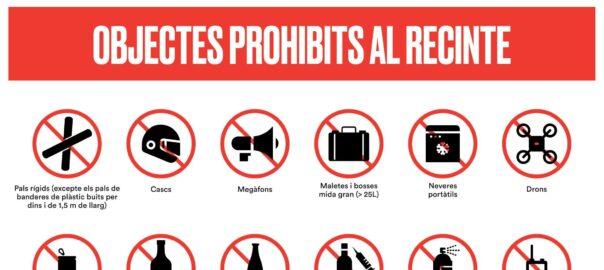 Objectes prohibits Perpinya 29 febrer