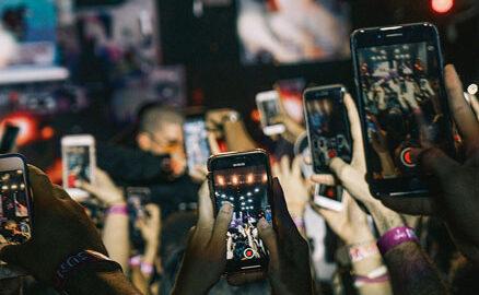 smartphones en un concert