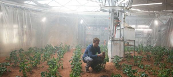 The Martian exploradors espacials agricultors
