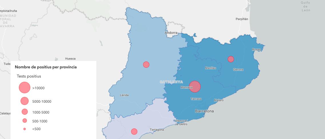 Mapa Interactiu Provincies Espanya.Mapa Interactiu Dels Morts De Covid 19 Per Comarques A Catalunya