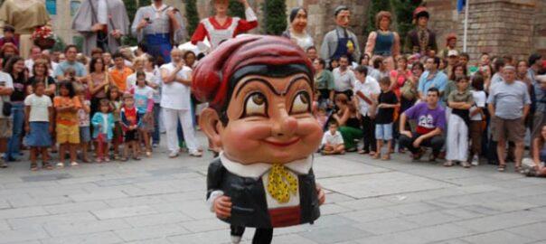 El nan Cu-cut de la plaça Nova a les Festes de Sant Roc.
