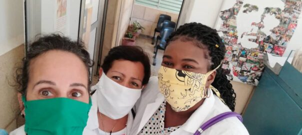 Tania González Vázquez, metgessa cubana, durant la covid-19 (Foto: TG)