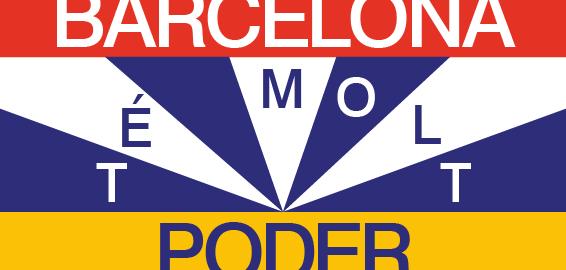 cartell Barcelona té molt poder, de Nacho Padilla, per ajuntament Barcelona