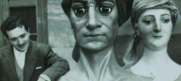 Manel Casserras i Boix amb els Gegants del Pi, 1960.