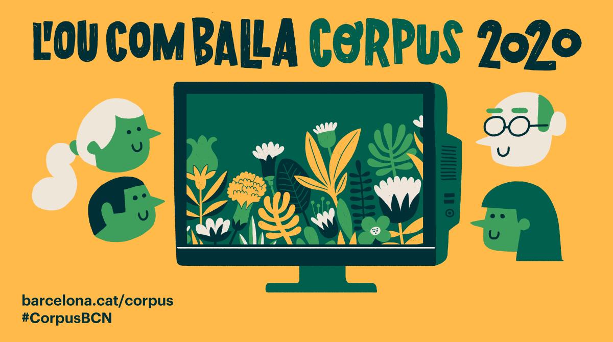 Cartell del Corpus de Barcelona 2020