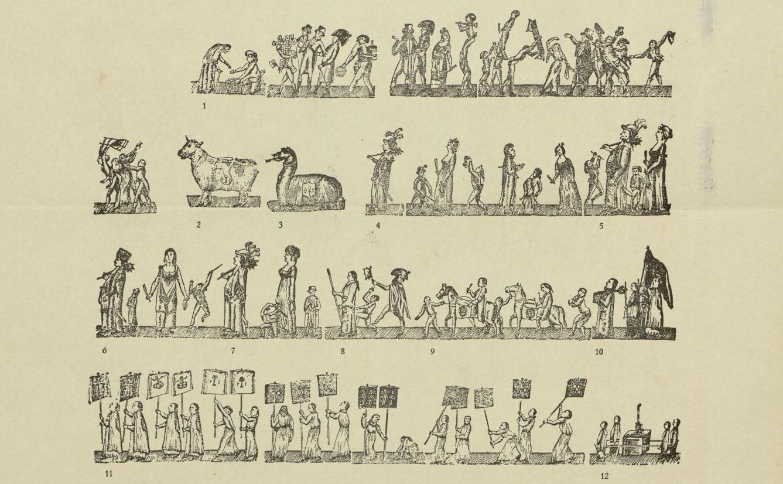 Auca del Corpus de Barcelona extreta del llibre 'Iconografia popular', de Joan Amades