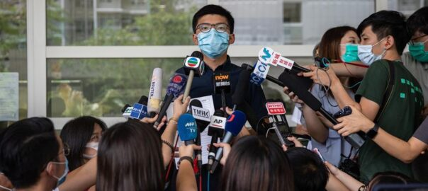 Joshua Wong, activista pro-democràcia d'Hong-Kong.