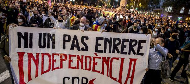 Mobilització de resposta del CDR a la inhabilitació del president Quim Torra