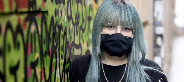 Xènia Garcia, detinguda i empresonada durant la resposta a la sentència.