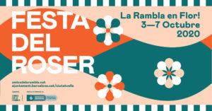 Festes del Roser a la Rambla de Barcelona
