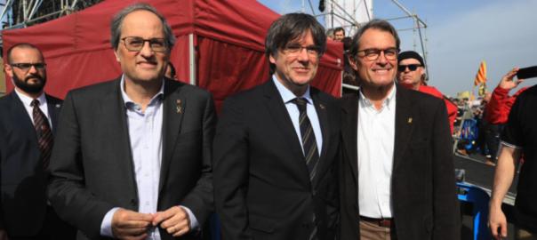 presidents Quim Torra Carles Puigdemont Artur Mas