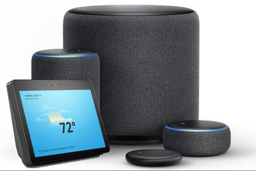 Amazon també té una línia de productes on ha incorporat el seu assistent, Alexa.