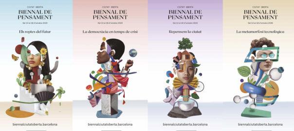 Cartell Biennal Pensament Ciutat Oberta Barcelona 2020
