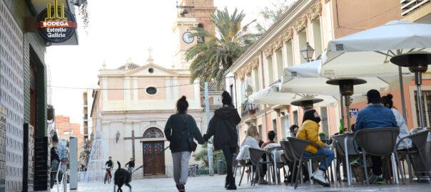 Una imatge de la plaça de Benimaclet