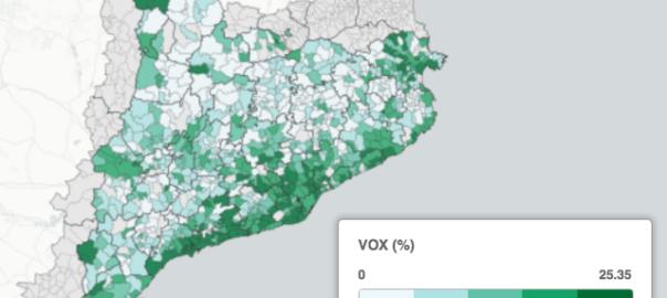 Mapa Vox Catalunya eleccions 2021