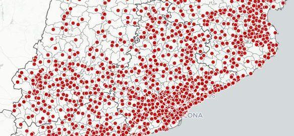 Mapa col·legis electorals eleccions catalunya 2021