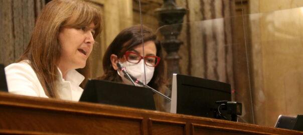 Laura Borràs al Parlament de Catalunya