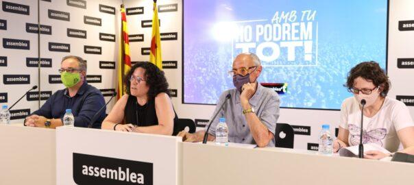 Roda de premsa de l'Assemblea Nacional Catalana