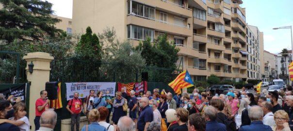 Manifestació Perpinyà per l'alliberament de Puigdemont