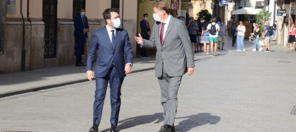 Pere Aragones i Ximo Puig-Palau de la Generalitat