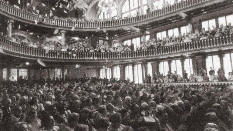 Imatge dels coneguts com a Fets del Palau de la Música, el 19 de maig de 1960