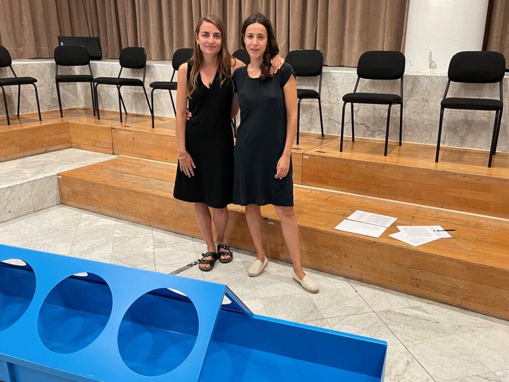 Irene Solà i Laia Estruch, creadores de l'espectacle Sirena, al Palau de la Música