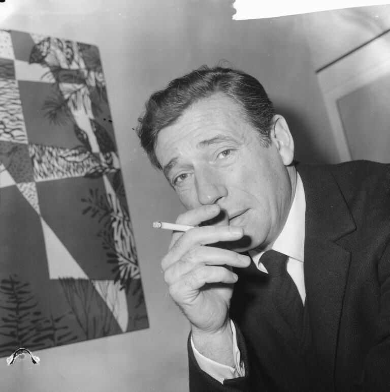 El cantant i actor Yves Montand