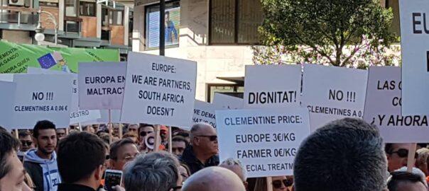 manifestació citricultura valència